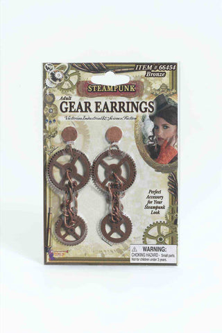 EARRINGS - STEAMPUNK GEAR