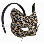 ANIMAL PRINT VENETIAN MASK WITH HEADBAND