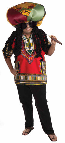 RASTA RIDICULOUS COSTUME ADULT  UP TO 42 CHEST