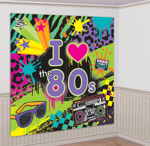 80'S WALL DECORATING KIT