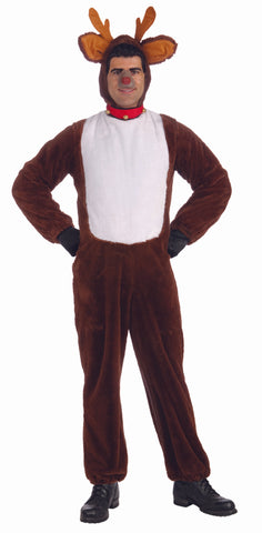 PLUSH REINDEER COSTUME - ADULT