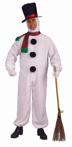 PLUSH SNOWMAN COSTUME - ADULT