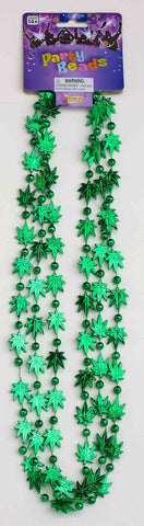 BEADS - MARIJUANA GREEN LEAF
