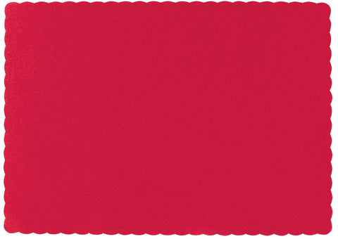 "PLACEMATS - APPLE RED CATERING 10X14"" 50 CT/PKG"