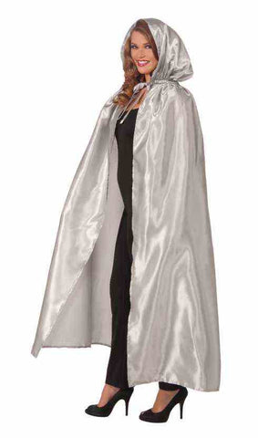 FANCY MASQUERADE CAPE - SILVER