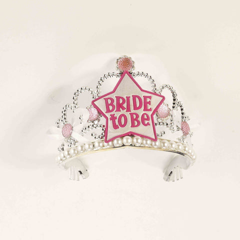 BRIDE TO BE TIARA PEARL/DIAMONDS  PINK EACH