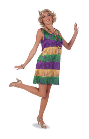 Mardi Gras Flapper Girl