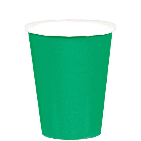 HOT / COLD PAPER CUPS - FESTIVE GREEN  9OZ   20 COUNT