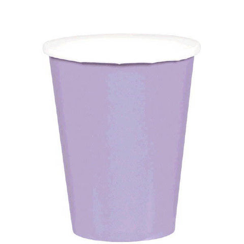 HOT / COLD PAPER CUPS - LAVENDER  9OZ   20 COUNT