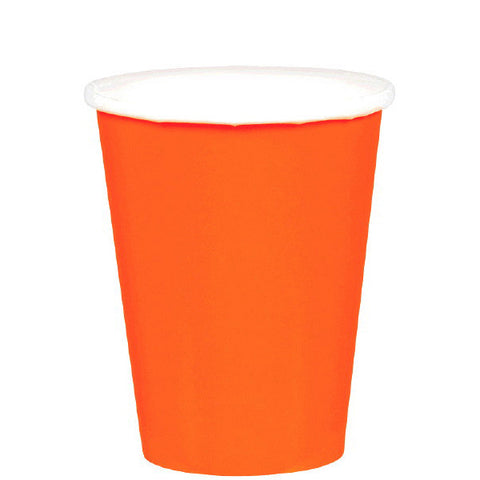 HOT / COLD PAPER CUPS - ORANGE PEEL  9OZ   20 COUNT