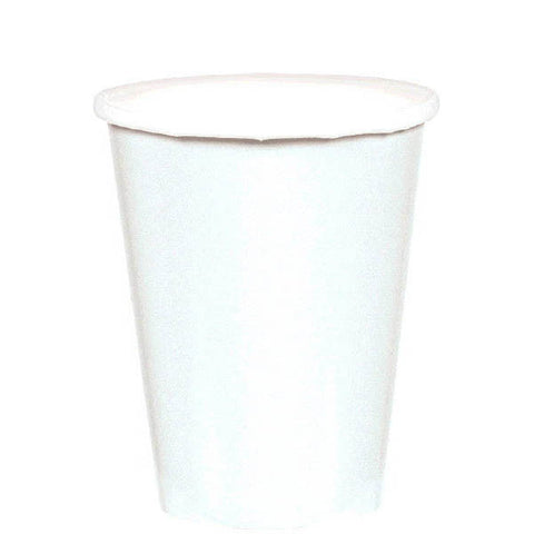 HOT / COLD PAPER CUPS - FROSTY WHITE   9OZ   20 COUNT