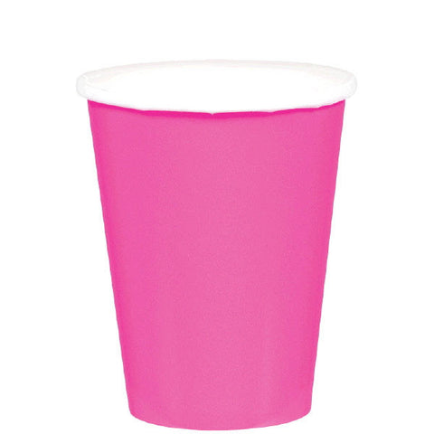 HOT / COLD PAPER CUPS - BRIGHT PINK   9OZ   20 COUNT