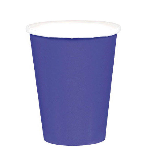 HOT / COLD PAPER CUPS - NEW PURPLE   9OZ   20 COUNT