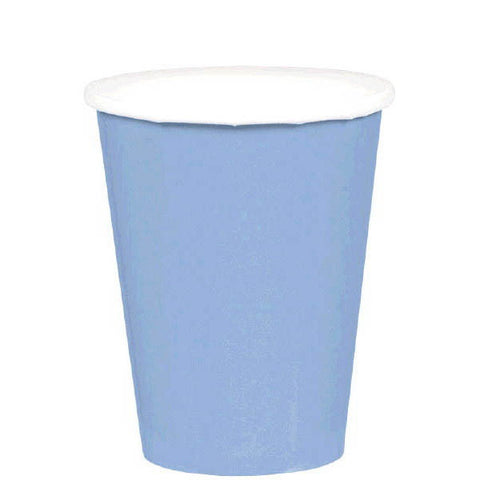 HOT / COLD PAPER CUPS - PASTEL BLUE   9OZ   20 COUNT