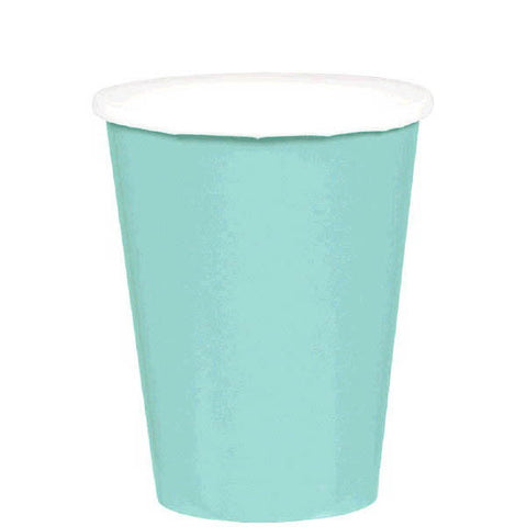 HOT / COLD PAPER CUPS - ROBIN'S EGG BLUE   9OZ   20 COUNT