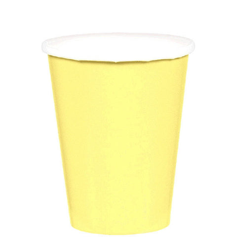 HOT / COLD PAPER CUPS - LIGHT YELLOW   9OZ   20 COUNT