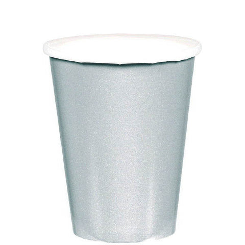 HOT / COLD PAPER CUPS - SILVER    9OZ   20 COUNT