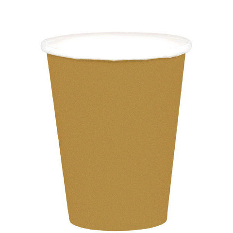 HOT / COLD PAPER CUPS - GOLD   9OZ     20 COUNT