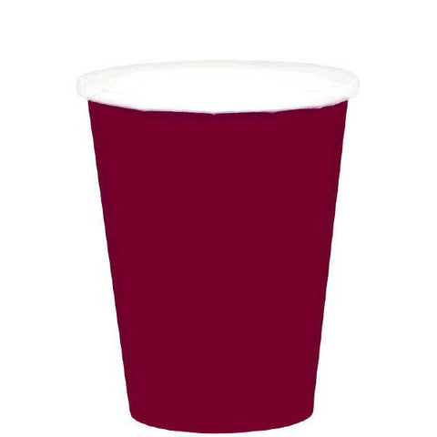 HOT / COLD PAPER CUPS - BERRY   9OZ   20 COUNT