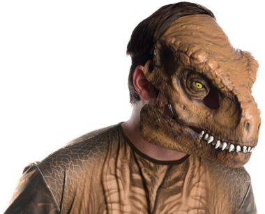 JURASSIC WORLD T-REX MOVABLE JAW MASK - ADULT