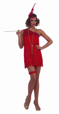 RUBY DAZZLE FLAPPER ADULT  FITS UP TO 14/16