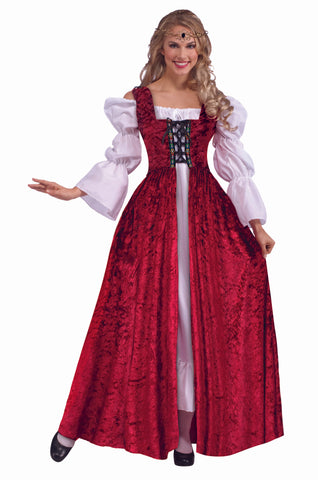 Medieval Lace Up Gown - Adult Costume