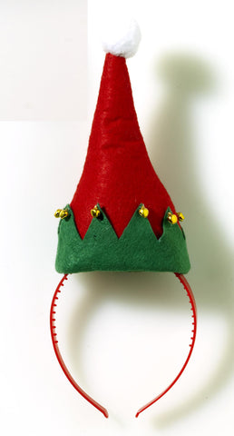 SANTA HAT ELF HEADBAND EACH