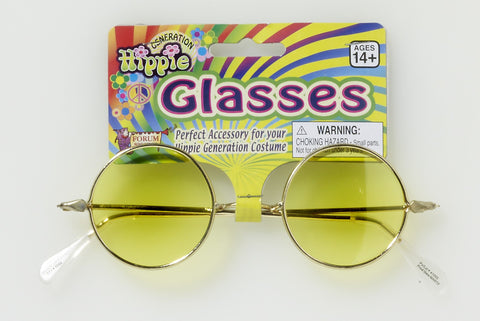 HIPPIE GLASSES - YELLOW