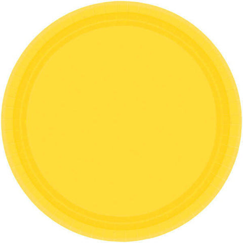 "PAPER PLATE - YELLOW SUNSHINE   10.5""  20CNT"