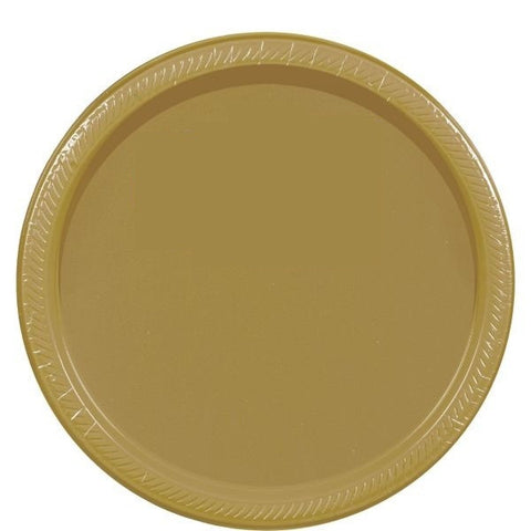 "PAPER PLATE - GOLD   10.5""   20CNT"