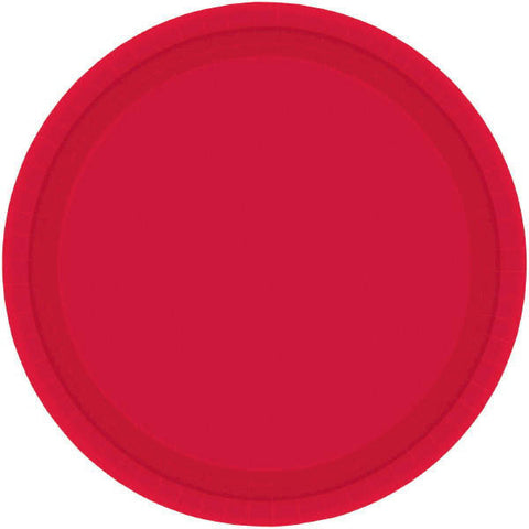 "PAPER PLATE - 10.5""  APPLE RED   20CNT"