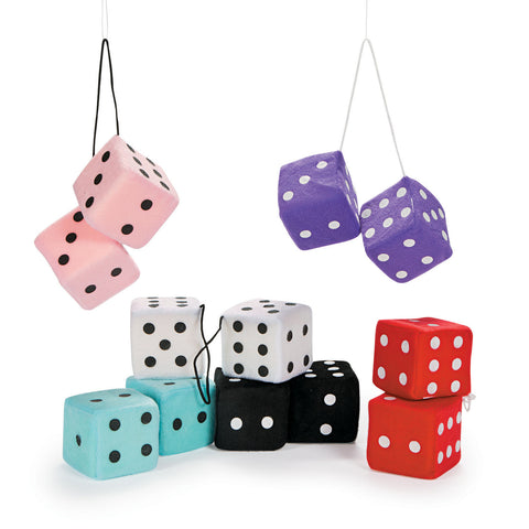 SOFT PLUSH HANGING DICE                 12 CT/PKG