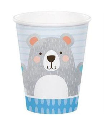 BIRTHDAY BEAR PAPER CUPS 8CT