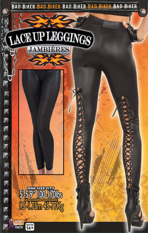 Lace Up Biker Leggings