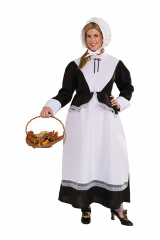 PILGRIM LADY COSTUME - ADULT PLUS