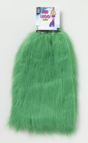 FUR LEG COVERS - GREEN