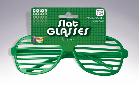 SLAT GREEN GLASSES