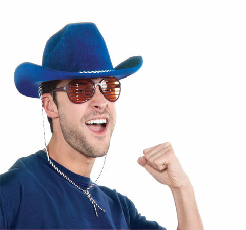 COWBOY HAT - ROYAL BLUE ADULT