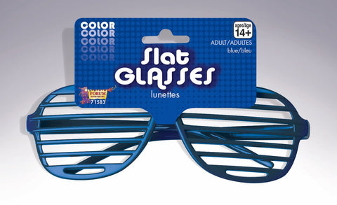 COLORED SHUTTER GLASSES 1PR     ROYAL BLUE