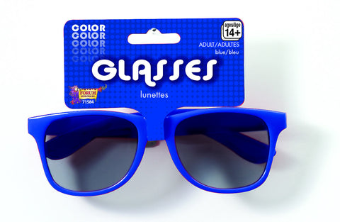 COLORED SUNGLASSES 1PR    ROYAL BLUE