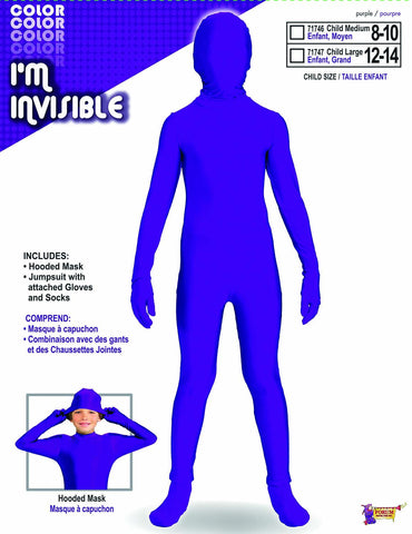 I'M INVISIBLE PURPLE SKIN COSTUME