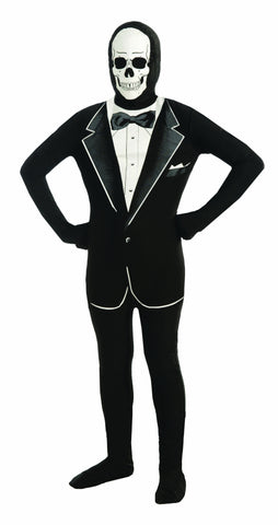 SKULL TUXEDO COSTUME CHILD      LARGE