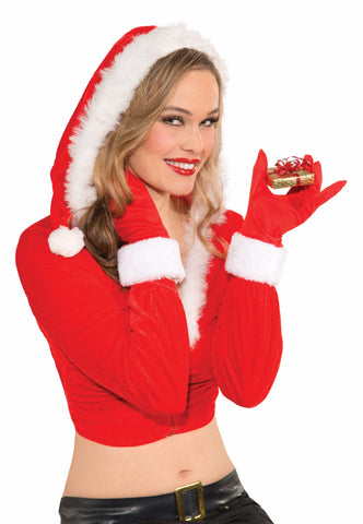 FEMALE CHRISTMAS GLOVES 1PR/PKG