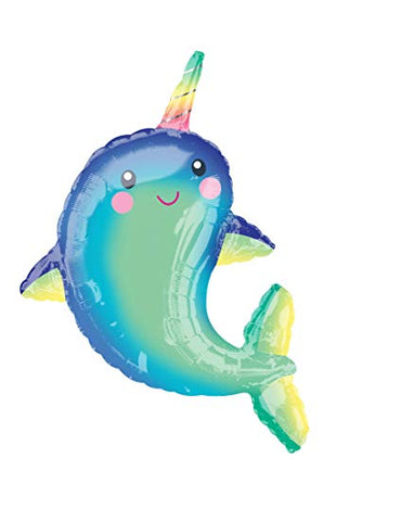 NARWHAL SUPER SHAPE MYLAR BALLOON