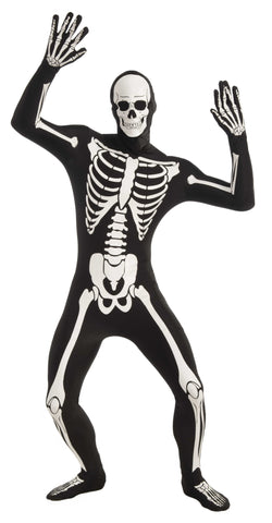 SKELETON DISAPPEARING MAN COSTUME  X-LARGE  ADULT