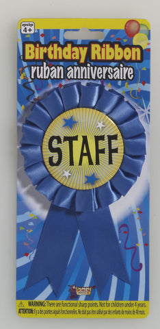 STAFF PRIZE RIBBON 1PC/CARD