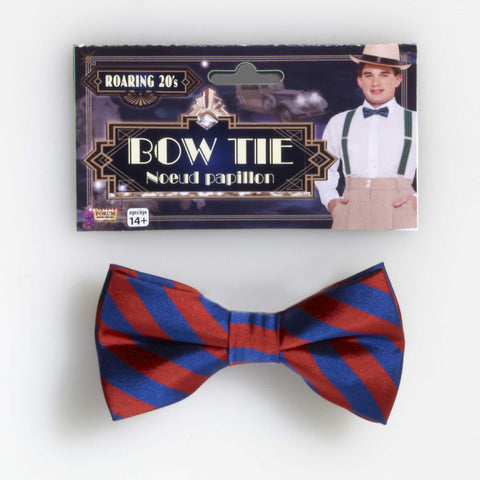 STRIPED BOW TIE RED / BLUE  1PC/PKG