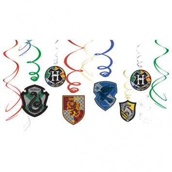 HARRY POTTER SWIRL DECORATIONS 12CT