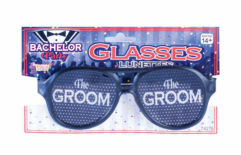 THE GROOM GLASSES 1PR/PKG
