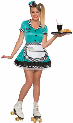 BETTY LOU CARHOP COSTUME
